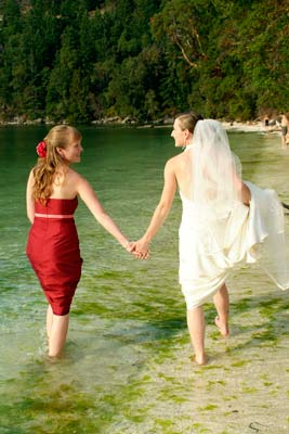 A summer wedding on Galiano Island