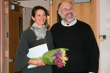 Digital Media Instructor Mark Schaeffer and Tara Gill